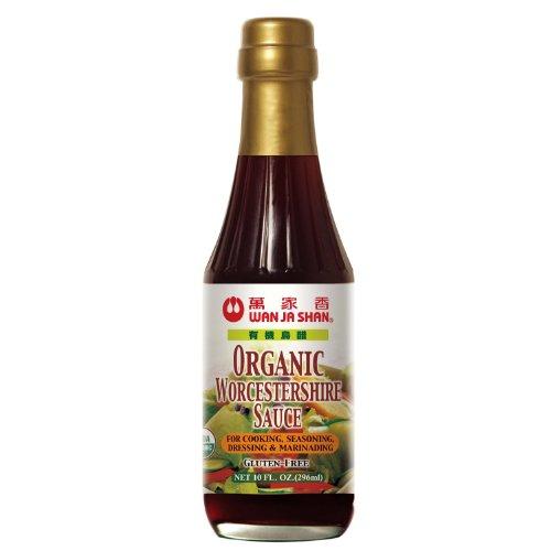 WanJaShan Organic Gluten Free Worcestershire Sauce - Seasoning, Dressing, Mar...(Pack of 6)