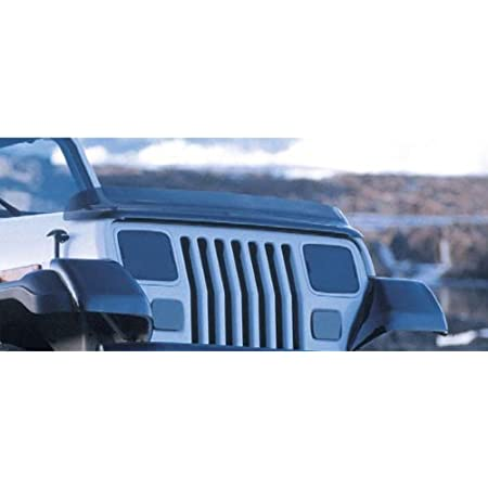 Rugged Ridge Hood Bug Deflector Wraparound Smoke for Jeep Wrangler JK 2007-2018