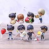 8 Unids/Set Detective Conan Mouri Heiji Hattori Kudou Shinichi Kaitou Kiddo Muñecas Pvc Figura De Juguete