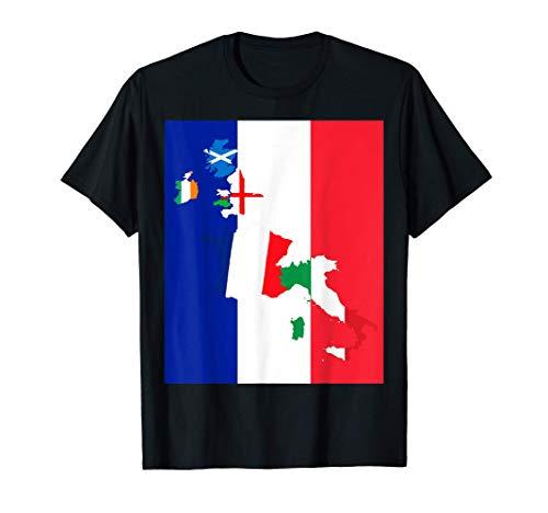 Fan di rugby Francia Drapeau Design bandiera francese Maglietta