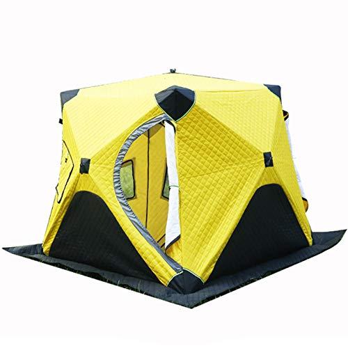 WMQ Ice Fishing Shanty, tragbarer Ice Fishing Shelter Einfache Einrichtung Winterfischerzelt Eisfischerzelt Wasserdichtes und winddichtes automatisches Zelt