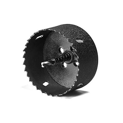 Elbe 80mm schwarz professionelle Lochfräse, M2, HSS Schnellarbeitsstahl vorgesehen für Holz, Gipskarton, Sperrholz, Eisenblech, Aluminiumstanzen Verwendbar auf alle Bohrmaschinen mit 3/8 Gewinde