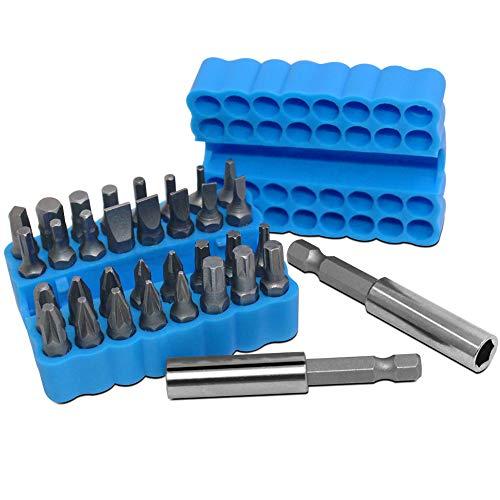 34-teiliges Schraubendreher-Bit-Set mit Bit-Verlängerungshalter, FineGood Sicherheits-Schraubendreher-Bits, massives Bohrer-Bit-Set, Schraubendreher-Bohr-Bits