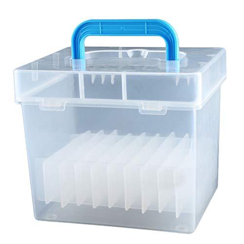 Monland Transparente 80-Slots Tragbare Wasserdichte Marker Stifte Aufbewahrungs Koffer Für Mark Büro Tisch Organizer
