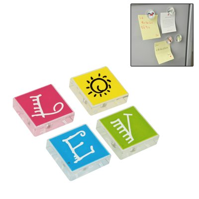 POJAP Koelkast Magnetic Stickers Rond Rubber Magnetic Style Liefde Creative Home Decoration