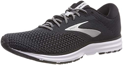 Brooks Mens Revel 2 Running Shoe - Black/Grey/Grey - D - 11.5