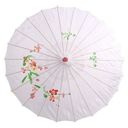 Maritown Parasol asiático japonés Hecho a Mano con Papel de Aceite y Paraguas de bambú para Danza clásica, Disfraces de Rendimiento, Cosplay, fotografía, decoración de Boda