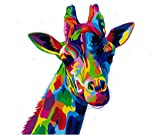 [Framless]Diy Oil Painting Paint By Number Kits Home Decor Wall Pic Value Gift-Colorful animal world(1) 16x20 Inch