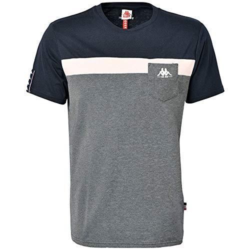 Kappa IDO, T-Shirt Uomo, Bleu, Rose, Navy, S