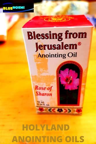 Aceite de Unción Rose of Sharon Jerusalén 0.4 onzas líquidas (12 ml) de la Tierra de la Biblia