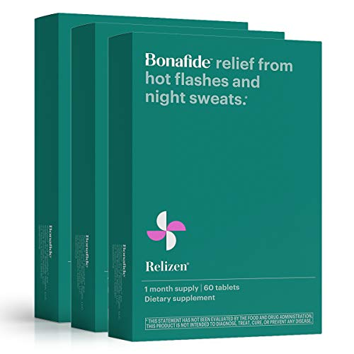 Bonafide – Relizen for Menopause Relief – Hot Flashes – Non-Hormonal, Drug-Free (3 Month).