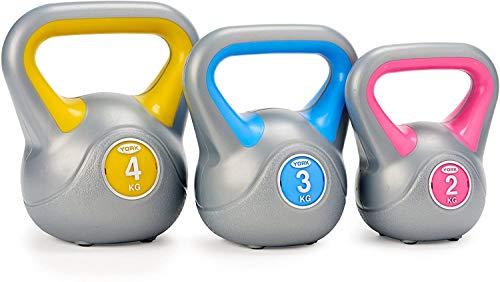 Fitness York 2,3,4KG Vinyl Kettlebell Set