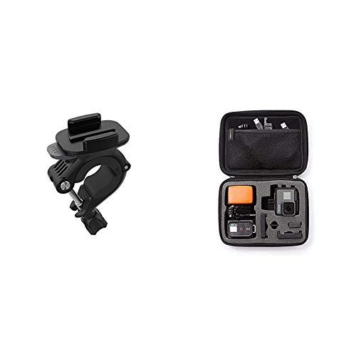 GoPro Lenker-/Sitzrohrstangen-/Rohrhalterung (Offizielles GoPro-Zubehör) & AmazonBasics Tragetasche für GoPro Actionkameras, Gr. S