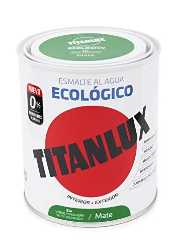 Titanlux - Esmalte eco, Mate verde perla, PR.750ML (ref. 02T051634)