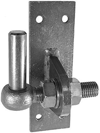 Dorn /Ø 13 mm Pollmann Baubeschl/äge 1070430 Plattenhaken D4 1-fach verstellbar 2 St/ück hell verzinkt