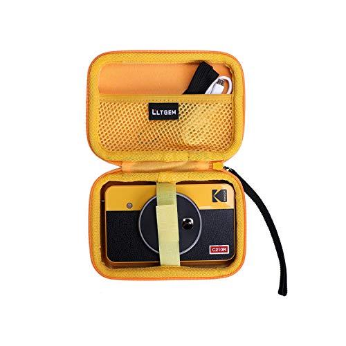 LTGEM Hard Case for Kodak Mini Shot 2 Retro Portable Wireless Instant Camera & Photo Printer - Yellow