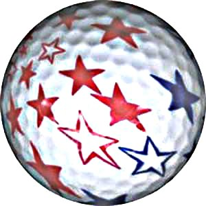 Stars and Stripes Themed Golf Ball Great Gift NEW