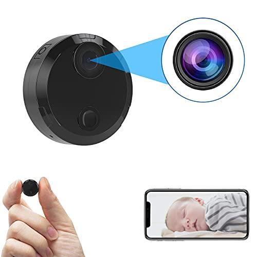 携帯型小型カメラ 監視カメラ 赤外線撮影 150°広角 長時間録画 電池式隠しカメラ 動体検知 暗視機能 配線不要 屋外/屋内用 盗撮カメラ IOS/Android対応 日本語取扱説明書