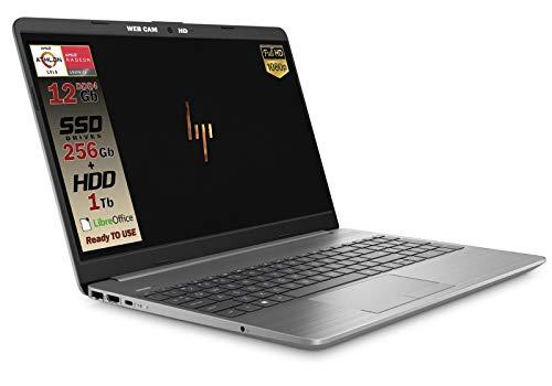 "HP 255 G7 Notebook portatile, SSD M2 da 500GB, Display da 15.6"", Amd A4 64bit da 2,6 GHz, 8GB di RAM DDR4, Office 2019, Wi-fI, Dvd-Cd Rw, 3 usb, web cam, Win10 Pro, Pronto All'uso, Garanzia Italia"