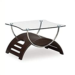 Global Furniture USA T63 Chrome Occasional End Table with Wenge Legs