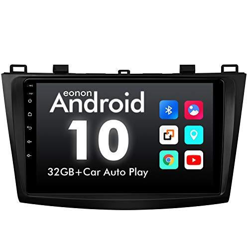 eonon GA9463B Android 10 fit Mazda 3 2010 2011 2012 2013 Quad-Core 2GB Ram 32GB ROM Indash Car Digital Audio Video Stereo autoradio 9' LCD Touchscreen GPS Sat Nav FM Am RDS USB Bluetooth DSP (NO DVD)
