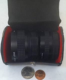 Generic - Vintage Set of Camera Lenses, Wide Angle and Telephoto Lens, Imado, Made in Japan, Comes in Black and Red Carry ...