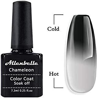Allenbelle Color Changing Nail Polish Gift set Color Changing Gel Polish Set Mood Soak Off Uv Led Gel Nail Polish (Hot Color is grey but not white))