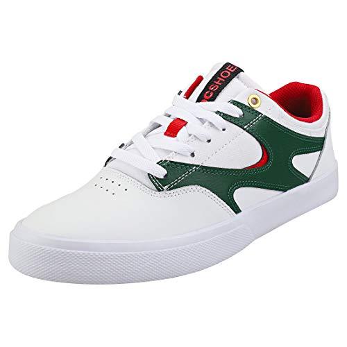 DC Shoes Herren Kalis Vulc Skateboardschuhe, White Red, 44.5 EU