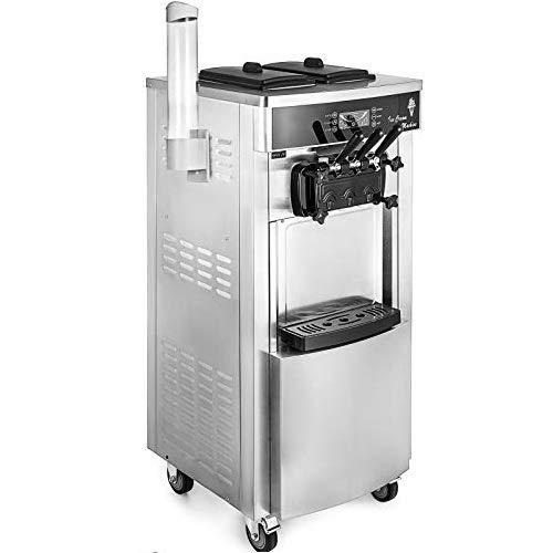 VEVOR Speiseeisbereiter Stehende Kommerzielle Softeismaschine Eismaschine Ice Cream maker 220V Edelstahl Maschine mit Eikegel