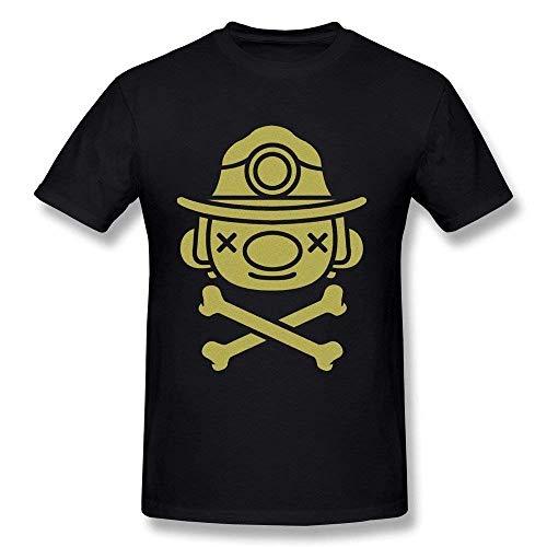 Geek Spelunky T-Shirt für Herren und Jugendliche, Baumwolle, Rundhalsausschnitt, kurzärmelig Gr. L, siehe abbildung