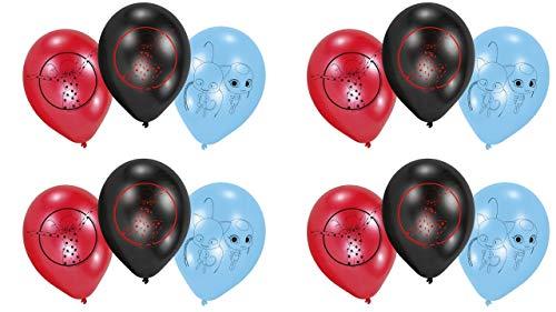 ALMACENESADAN 0677, Pack 12 Globos Lady Bug; para Fiestas y cumpleaños. Ideal para Decorar Tus Fiestas.