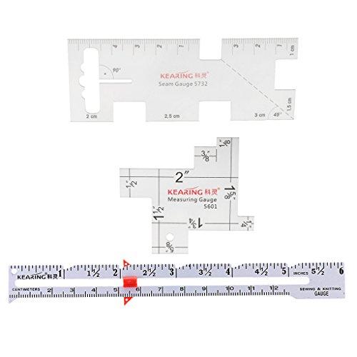 Homyl 3tlg. Maßstab Lehre Lineal Measuring Gauge Für Nähendes Handwerk Basteln