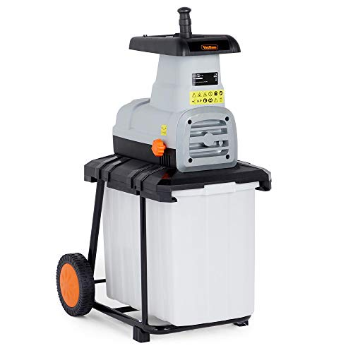 VonHaus 2600W Garden Shredder/Electric Wood Chipper Rapid Waste Mulcher - Shreds up to 40mm Branches - 50L Collection Box - Brushless Induction Motor
