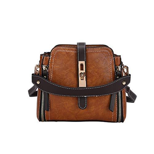 DDKK bags Retro Leather Crossbody Bag One-Shoulder Bag-College School Travel Handbag-Zipper Pocket Messenger Tote Hot
