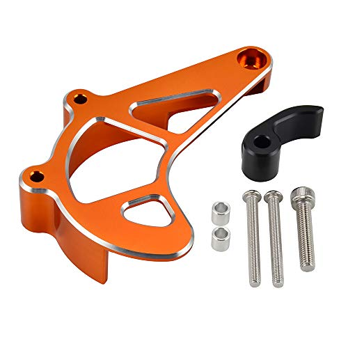 NICECNC Orange CNC Kettenschutz Abdeckung Kettenradschutz Kompatibel mit KTM 690 Enduro R & SMC R 2009-2021 690 SMC R 2019-2021 Husqv-701 Enduro & SM 2016-2021,CNC Kettenschutz Abdeckung