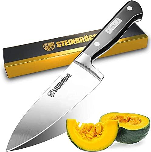 Cuchillo de cocina 15CM - Cuchillo afilado para chef Versátil cuchillo de cocina alemán forjado de acero inoxidable al carbono con mango ergonómico y espiga completa