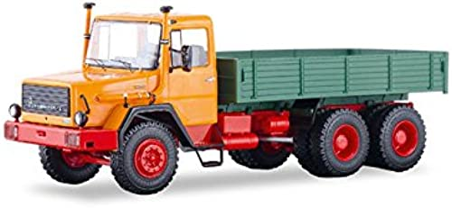 precios al por mayor Start Scale Models ssm1287 de MAGIRUS DEUTZ 290d26l 290d26l 290d26l Camiones Tipo Flatbed de naranja de verde  ¡envío gratis!