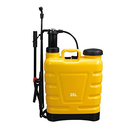 Beaugreen Pump Pressure Sprayer Knapsack Backpack Sprayer Garden Weed Killer Sprayer for Lawn Garden Farm (5 Gallon/ 20L-Yellow)