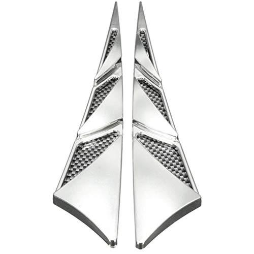 Pegatina de decoración de ala lateral de coche 1 par Capó lateral ABS exterior del coche capó de la tapa de ventilación de capó de entrada de aire del coche campana de ventilación pegatina de tiburón