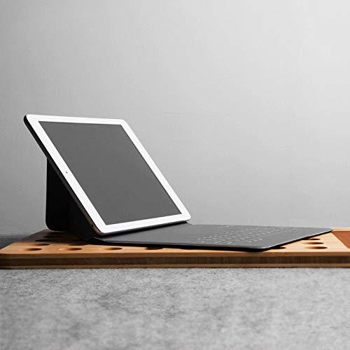 hangong Conciso para Xiaomi mi Almohadilla 4 3 2 1 Samsung Tab S2 8.0InCH 7.9 Tableta de 8 Pulgadas Tableta Ultra Delgada Teclado Bluetooth Teclado de Cuero de Cuero de la PU (Color : Black)