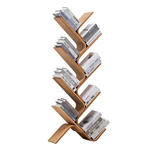 Estantería de árbol con cajón Biblioteca En Forma De Árbol De 8 Pisos De Piso A Techo Bambú Ware Corner Booksheles Bookshuelves Almacenamiento De Oficina Pantalla De Exhibición Biblioteca De D