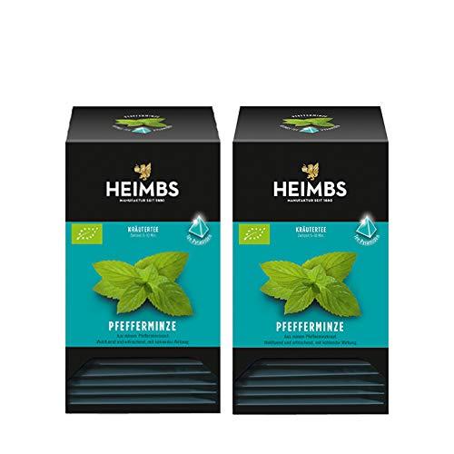 HEIMBS Bio Pfefferminze, 20 Pyramidenbeutel, 2er Pack