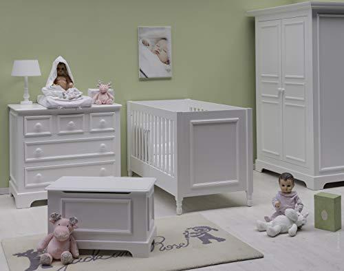 Couette fibres creuses polyester/polycoton - Blanc, Lit bébé, 120x150cm, 9,0 TOG