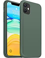 OUXUL iPhone 11 Case,iPhone 11 Liquid Silicone Gel Rubber Phone Case,Compatible with iPhone 11 Case Cover 6.1 Inch Full Body Slim Soft Microfiber Lining Protective Case