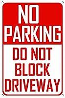 警告標識金属標識駐車禁止車線標識面白い屋外標識道路標識7.9×11.8インチ