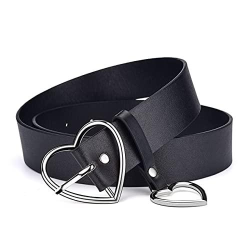 WSKL Love Pin Hebilla Moda Retro cinturón Vestido Jeans Decorativos señoras Cinturones Lindos
