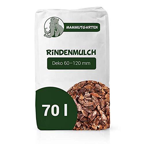 MammutGarten Rindenmulch Kiefer Rinde Garten Deko 60-120 mm 70l Sack