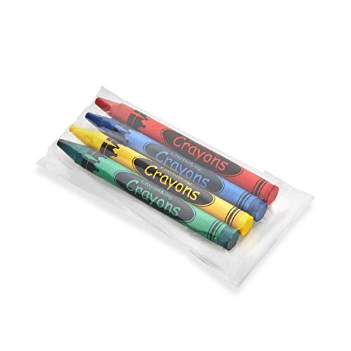 CrayonKing 500 Sets of 4-Pack in Cello (2,000 total bulk crayons) Restaurants, Party Favors, Birthdays, School Teachers & Kids Coloring Non-Toxic Crayons