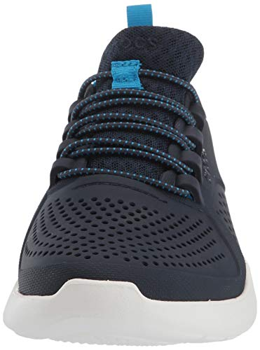 Crocs Kids' LiteRide Pacer Sneakers, Navy/White, 4 Big Kid