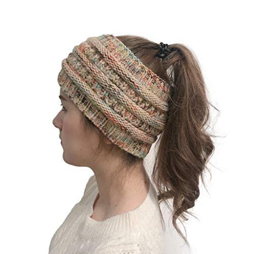MAWOLY Damen Mädchen Haarband Breitkrempig Wolle Dick Rein Headband Stirnbänder Gestrickt Stirnband Haar Band Bandana Ski Hut Winter Warm Hairband